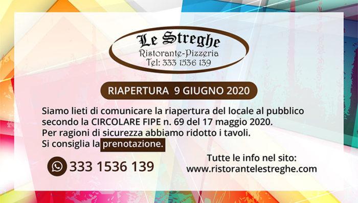 Riapertura 09/06/2020 - Covid-19